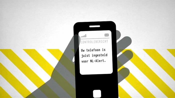 foto smartphone met voorbeeld controlebericht