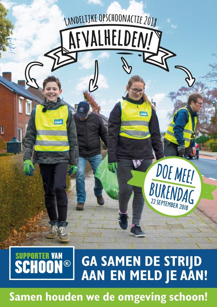 Poster Landelijke opschoonactie 2018